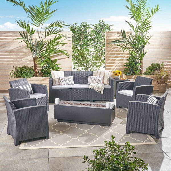 Phyllida Outdoor 7 Piece Sofa Seating Group with Cushions by Ivy Bronx