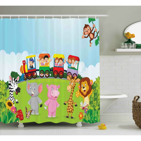 Donnie Shower Curtain by Zoomie Kids