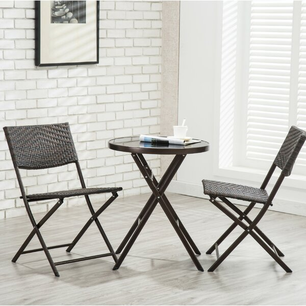 Rockingham 3 Piece Patio Bistro Set by Bay Isle Ho
