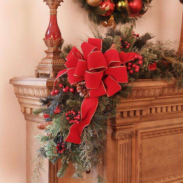 Christmas Mantle Corner Piece by Floral Home Decor