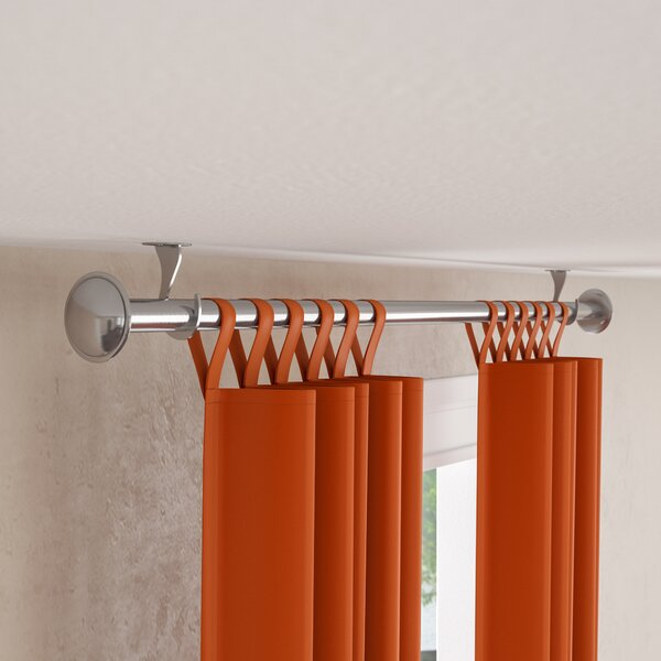 Christiansburg Indoor Outdoor Single Curtain Rod by Fleur De Lis Living