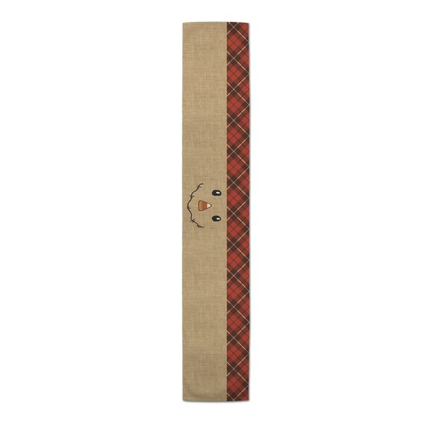 Vesper Happy Harvest Scarecrow Table Runner by The Holiday Aisle