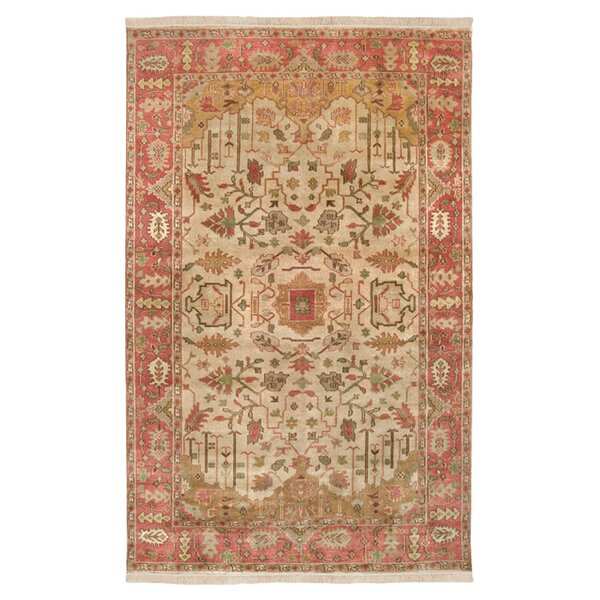 Adrien Burnished Gold Area Rug by Bloomsbury Market