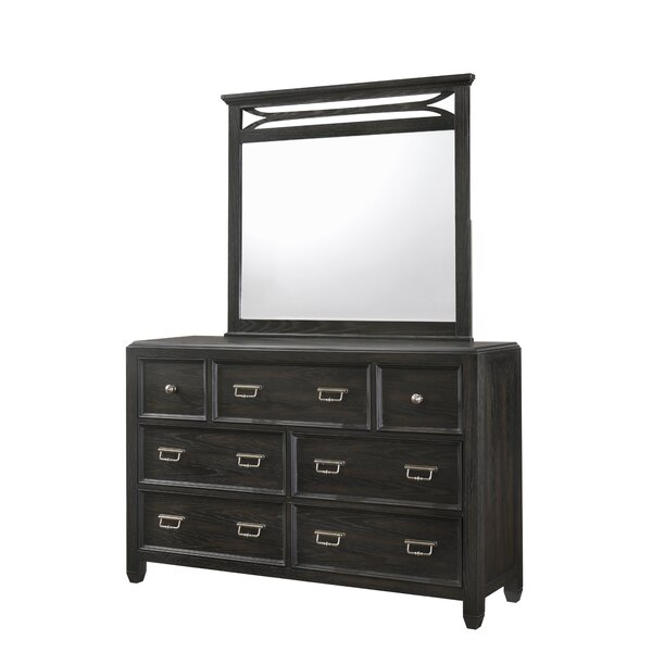 Bostrom 7 Drawer Dresser with Mirror by House of Hampton