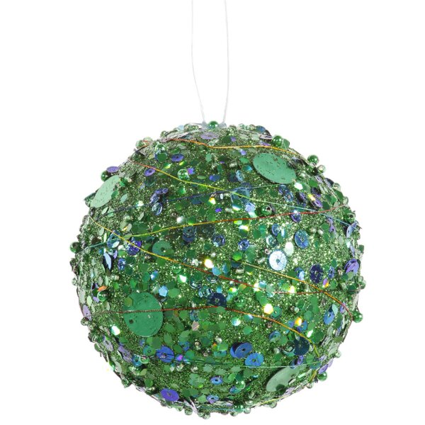 Sparkle Glitter and Sequin Kissing Christmas Ball