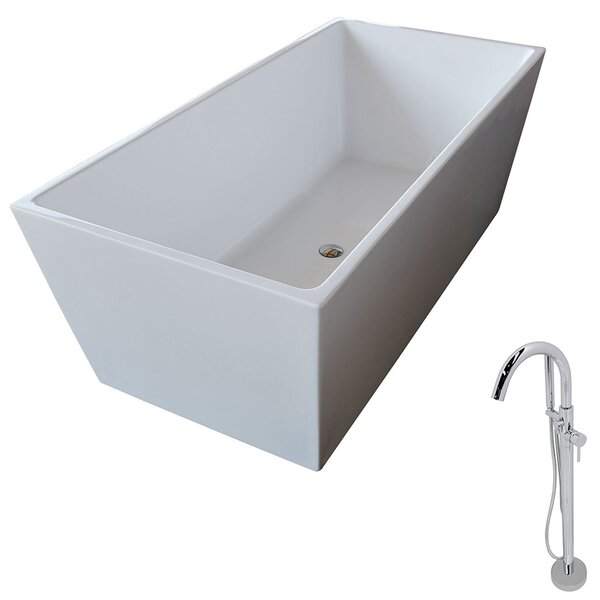 Fjord 66.8 x 31.5 Freestanding Soaking Bathtub by ANZZI