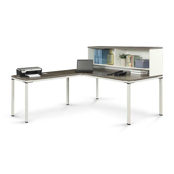 Element L-Shape Executive Desk with Hutch