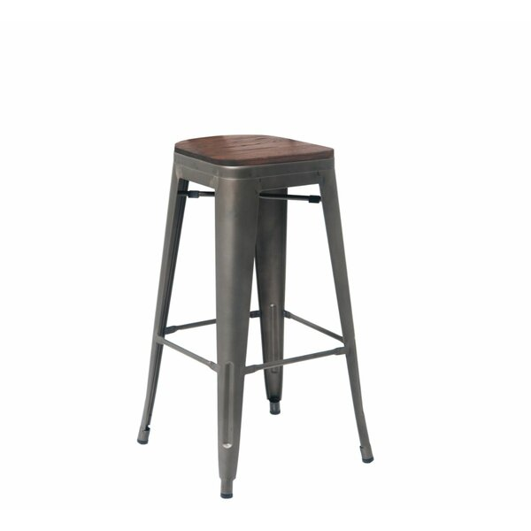 Solid Wood 30'' Bar Stool (Set Of 4) By ERF Inc.