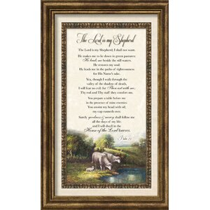 Biblical 'The Lord is My Shepherd' Framed Textual Art by Carpentree