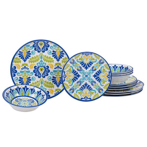 Hoehn 12 Piece Melamine Dinnerware Set, Service for 4 by Alcott Hill