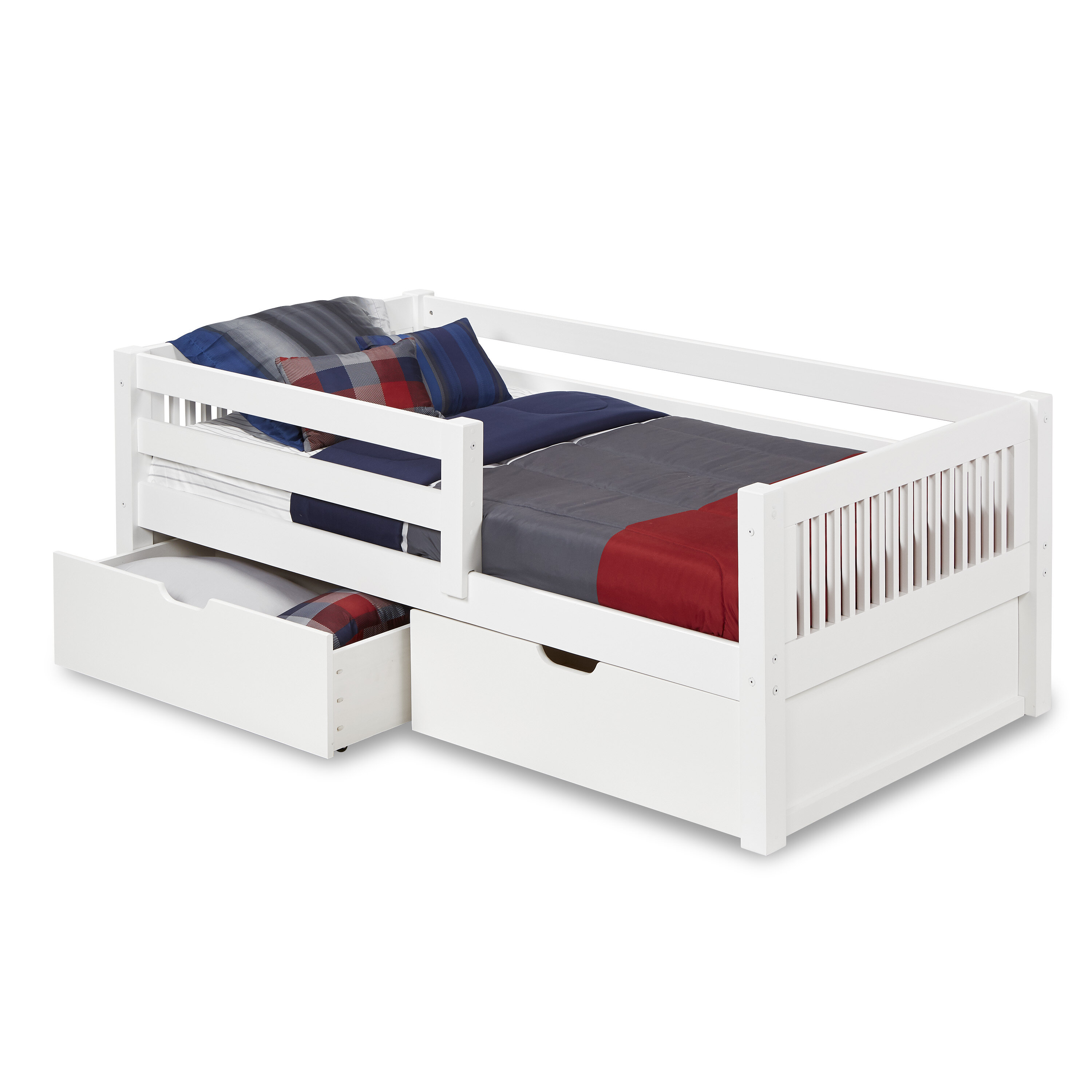 Picture of: Mattress With Storage Plain White Mdf Toddler Bed Children S Beds With Mattresses Home Furniture Diy Lesaintcyr Fr