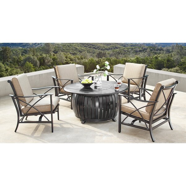 Mccomas 5 Piece Dining Set with Cushions