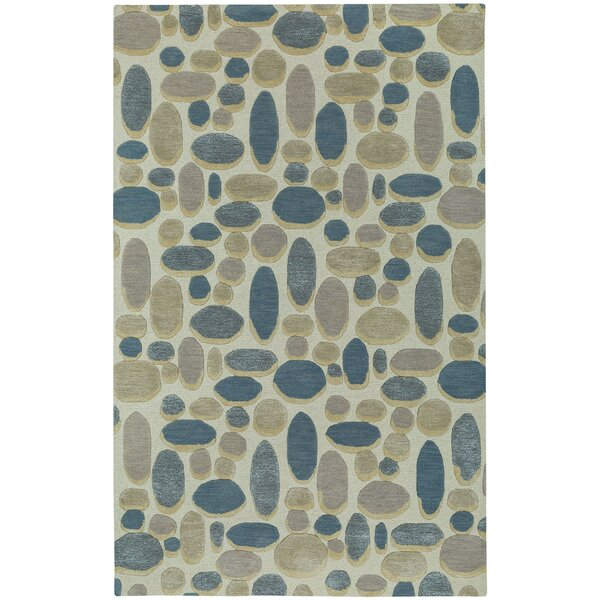 Evening Shade Hand Tufted Ecru Blue Area Rug by Capel Rugs