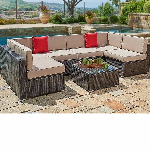 7 Piece Sofa Seating Group with Cushions by Red Barrel Studio
