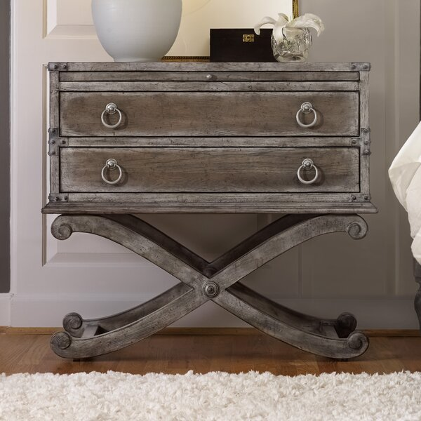 True Vintage 2 Drawer Nightstand by Hooker Furniture