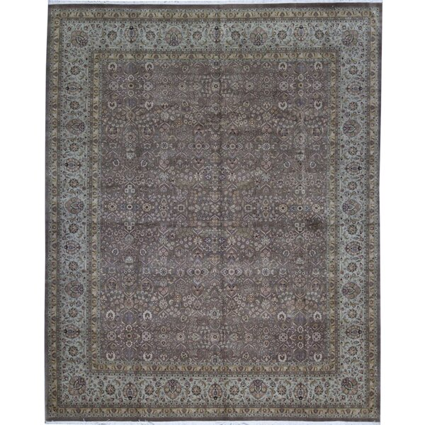 One-of-a-Kind Worsted Hand-Knotted Brown/Beige 12' x 15'1 Wool Area Rug