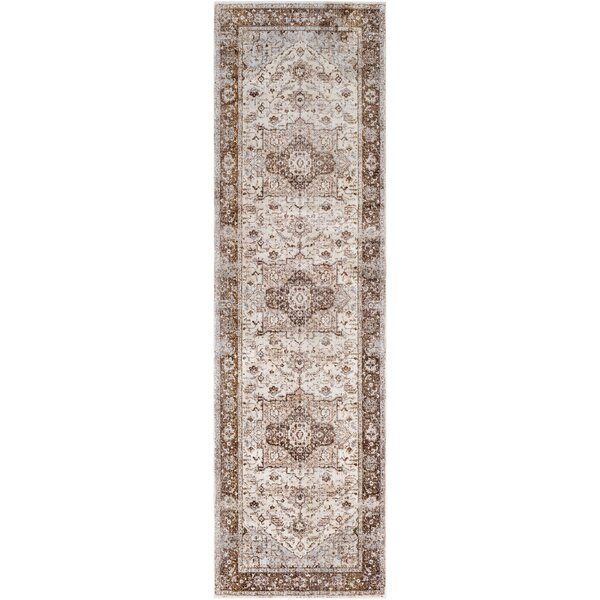 Elvis Distressed Dark Brown/Pale Pink Area Rug by Charlton Home