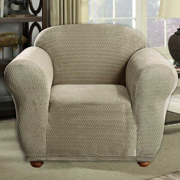 Stretch Diamond Box Cushion Armchair Slipcover by Red Barrel Studio