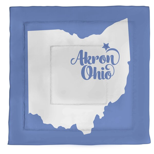 Ohio Akron Single Reversible Comforter