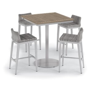 Saleh 5 Piece Bar Height Dining Set By Brayden Studio