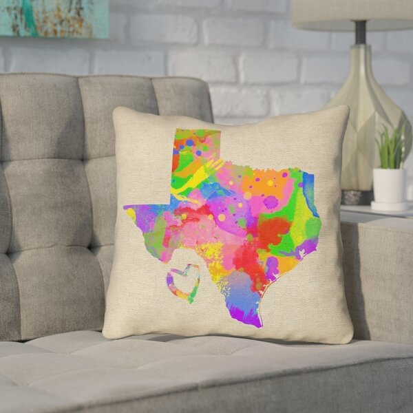 Sherilyn Texas Love Outdoor Throw Pillow by Ivy Bronx