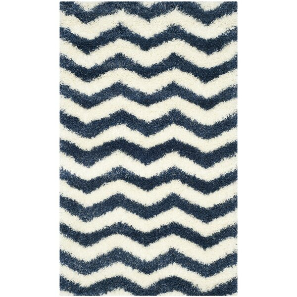 Kimberley Ivory/Blue Area Rug by Zipcode Design