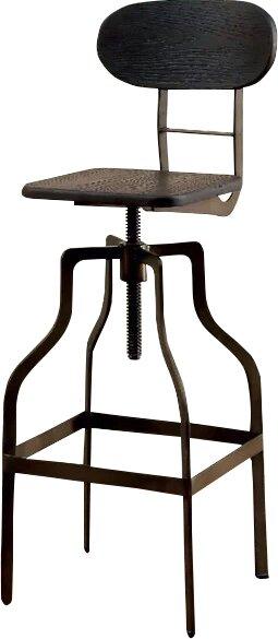 Renfrow Adjustable Height Swivel Bar Stool by Laurel Foundry Modern Farmhouse