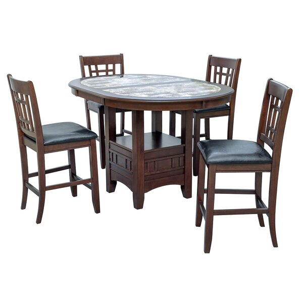 Degraffenreid 5 Piece Dining Set by Hazelwood Home Hazelwood Home