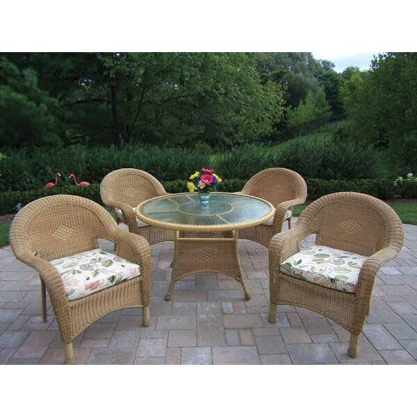 Kingsmill Dining Set with Cushions by Rosecliff Heights