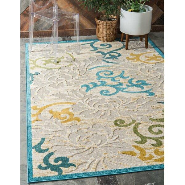 Fidela Blue Indoor/Outdoor Area Rug by Ebern Designs Ebern Designs