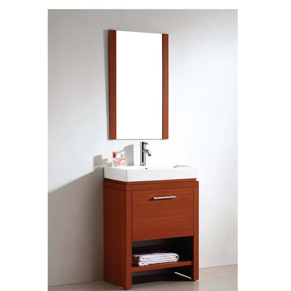 American 24 Single Vanity Set with Mirror by Dawn USAAmerican 24 Single Vanity Set with Mirror by Dawn USA