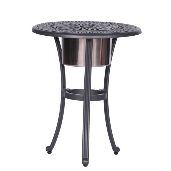 Beaufort Round Ice Bucket Bistro Table by World Menagerie
