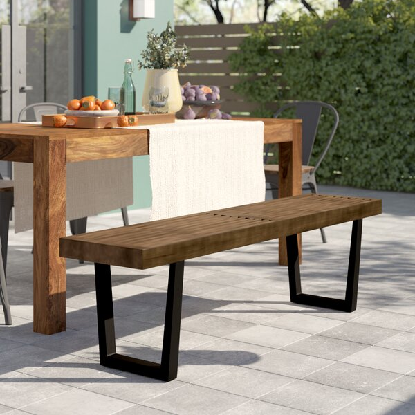 Yager Wooden Picnic Bench By Union Rustic