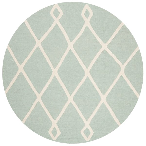 Claro Moroccan Hand-Tufted Mint Area Rug by Harriet Bee