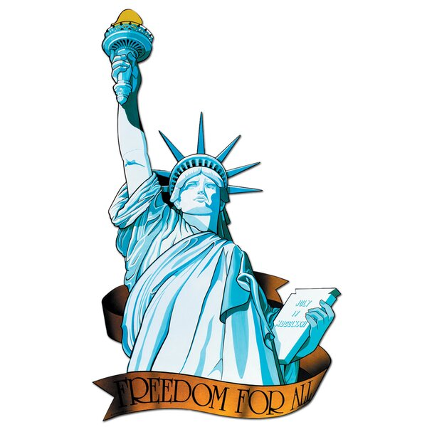 Patriotic Miss Liberty Cutout by The Holiday Aisle