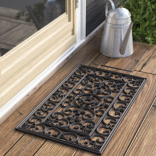Calles Scroll Floral Doormat by Andover Mills