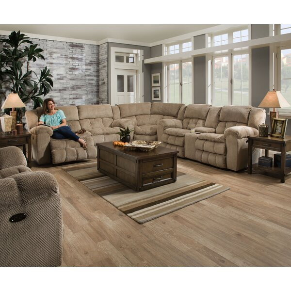 Henning Simmons Upholstery Reclining Sectional by Darby Home Co