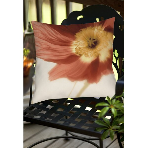 Mystic Poppy 1 Indoor/Outdoor Throw Pillow by Manual Woodworkers & Weavers