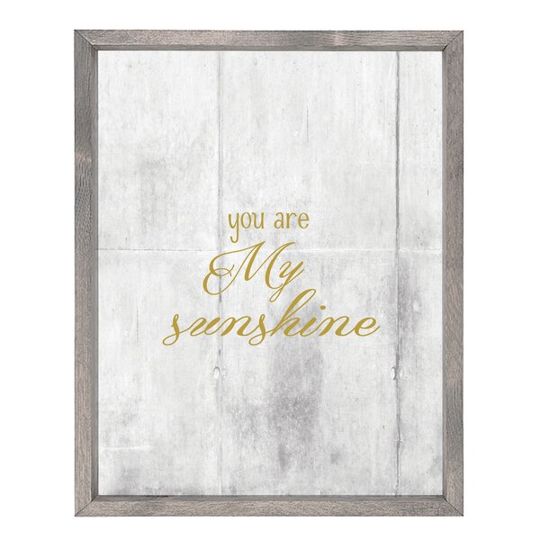 You Are My Sunshine Wall Art by Forest Creations