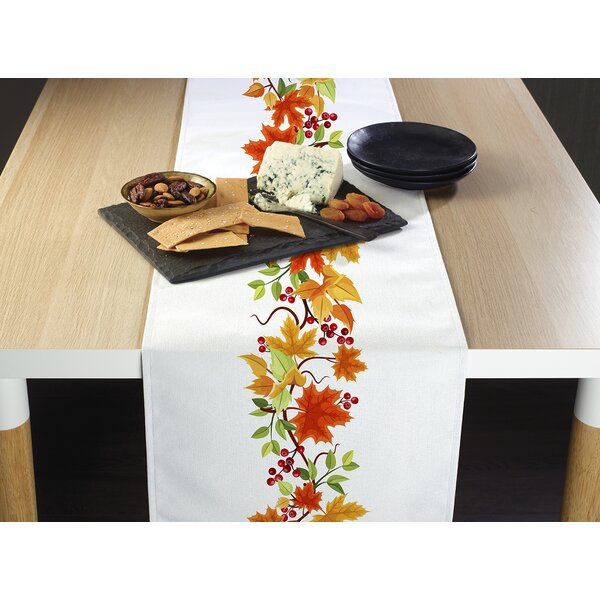 Kalyn Leaves Border Table Runner by August Grove