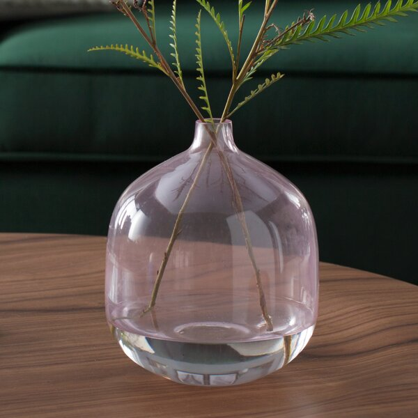 Bud Brown Glass Vase by Mistana