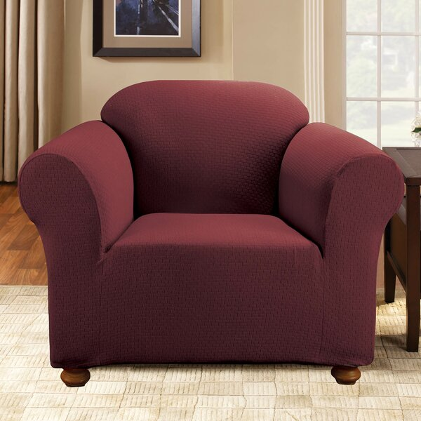 Simple Stretch Subway Box Cushion Armchair Slipcover By Sure Fit New Design