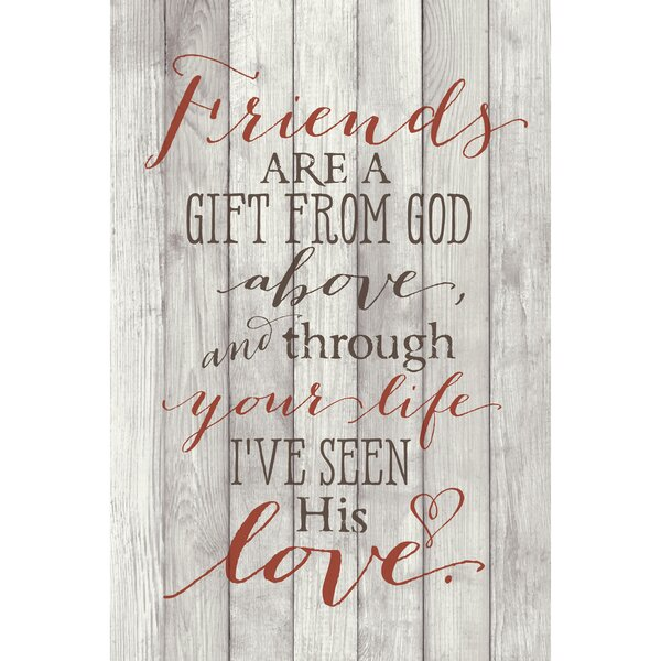 Friends Are a Gift … Textual Art Plaque by Dexsa