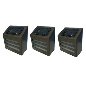 Solar 1-Light Deck, Step, and Rail Light (Set of 3)