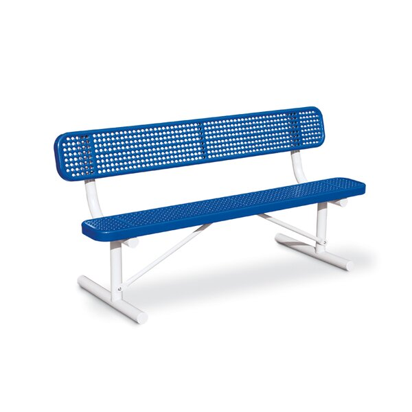 Victory Perforated Steel Park Bench by Anova