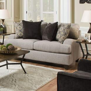 Price comparison Simmons Upholstery Hattiesburg Sterling Loveseat ByThree Posts