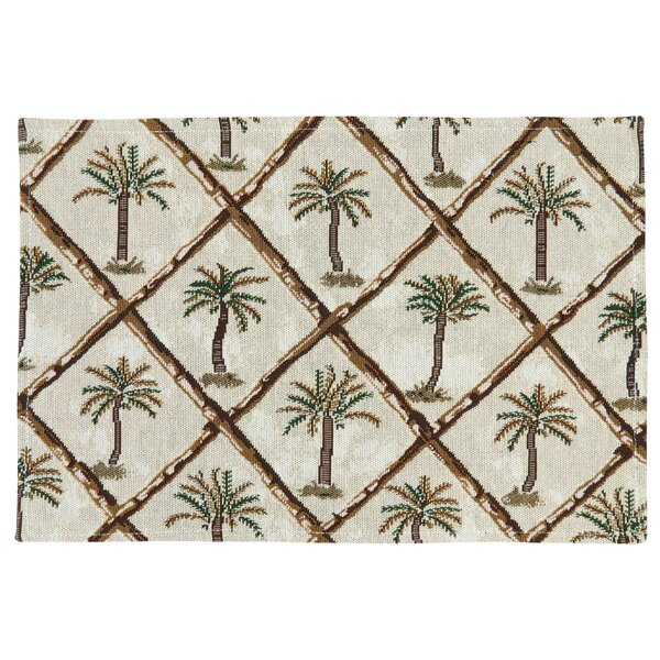 Emsley Palm Trees and Bamboo Tapestry Placemat (Set of 4) by Bay Isle Home