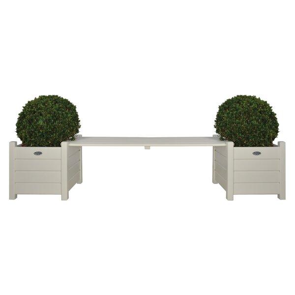 Square Wood Planter Bench by EsschertDesign