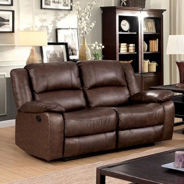 Holroyd Leather Reclining 59-inch Pillow Top Arms Loveseat by Red Barrel Studio Red Barrel Studio