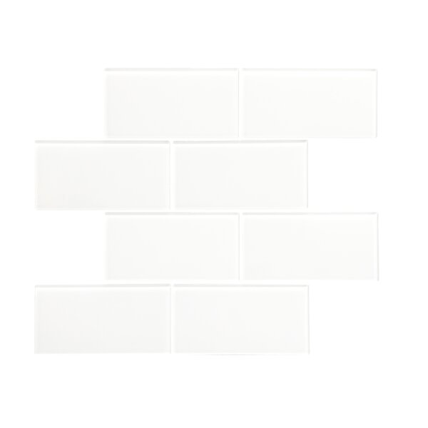 Quality Value Series 3 x 6 Glass Subway Tile in Glossy White by WS Tiles